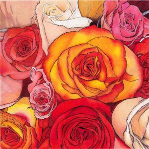Rose Crush by Rhonda Dicksion